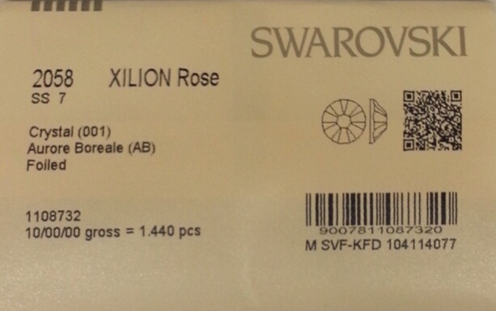 7ss Crystal AB 1440 SWAROVSKI Flatback Rhinestones Wholesale FULL Pack by Tamis Place