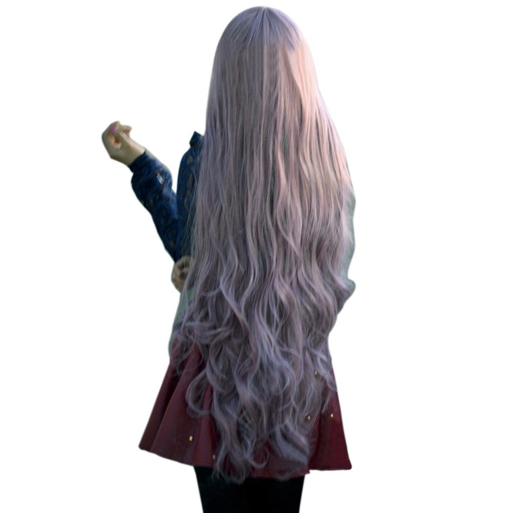 ACE New Fashion Womens Lady Long Curly Wavy Hair Full Wigs Cosplay Party Anime Lolita Wig 100cm