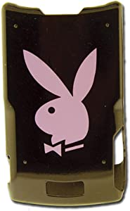 Licensed Black Playboy Snap-On for V3 with Pink Bunny on the Back and Playboy Logo on the Front