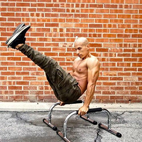 Lebert Fitness Parallettes Frank Medrano Signature Series Chrome Push Up Bars