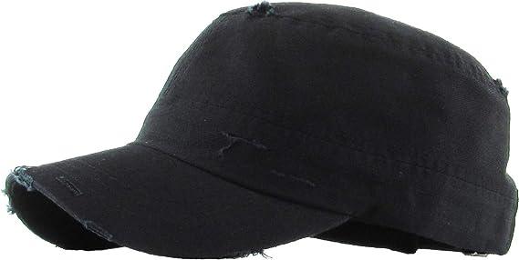 94013ddf854 KBETHOS KBK-1466 BLK Pure Cotton Twill Adjustable Cadet GI Hat at Amazon  Men s Clothing store