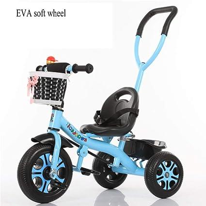 GIFT Triciclo para Niños Bicicleta 3 Ruedas Bicicleta Carrito De Bebé Cochecito, Varilla De Empuje