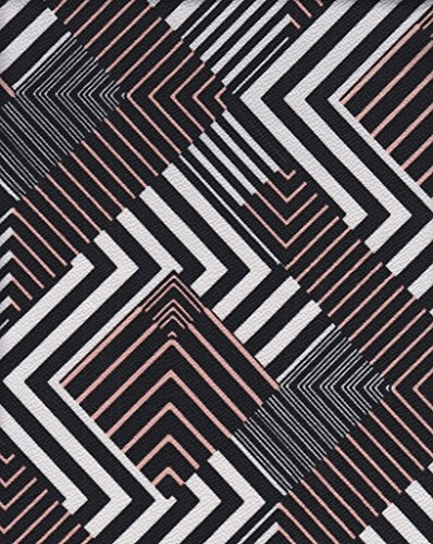 - Abstract Geometric Design Print on Liverpool Knit Fabric by the Yard
