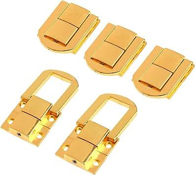 Broche de latón envejecido con tornillos para caja de joyería y decoración de maletas, latón envejecido, dorado: Amazon.es: Bricolaje y herramientas