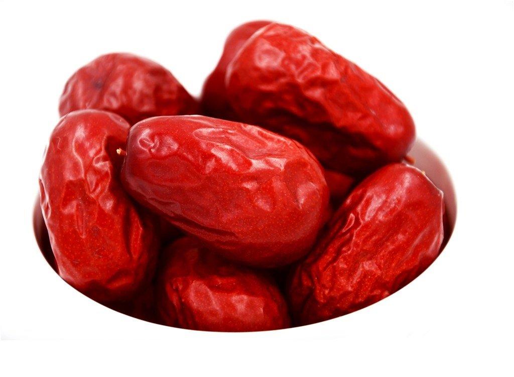 HEKUNDA Dried JUJUBE DATES 500g, 100% Natural Organic Chinese Dates Healthy Nutritious Food