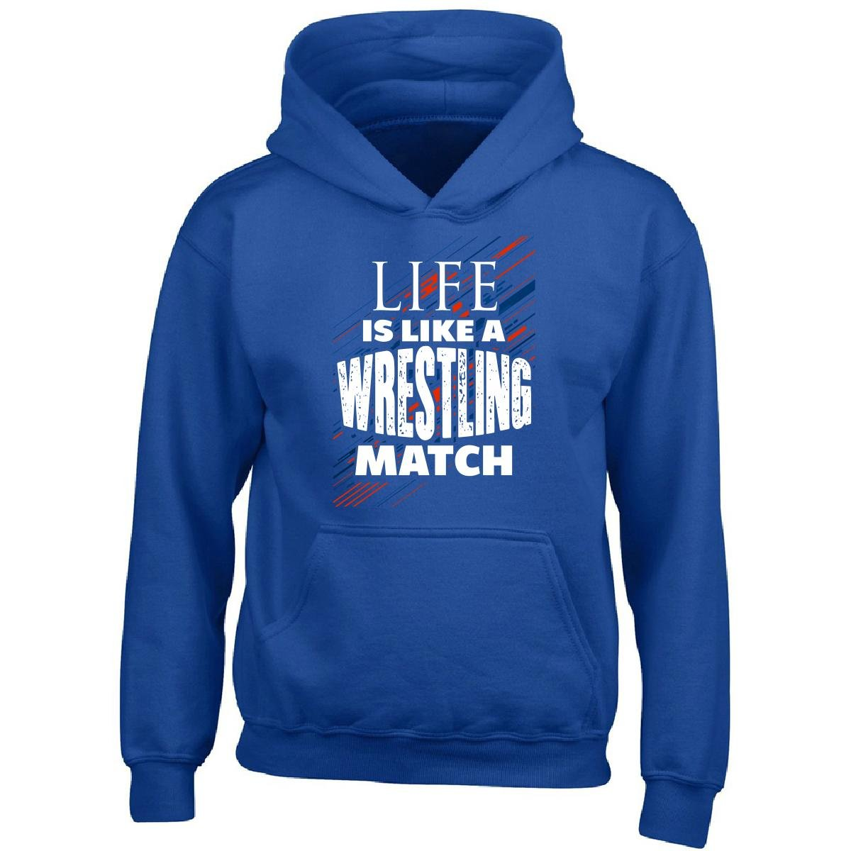 Gilded Penguin Life Is Like A Wrestling Match - Boy Boys Hoodie Kids S Royal