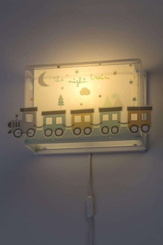 60 W Dalber The Night Train kinder wandlampe bunt Kunststoff