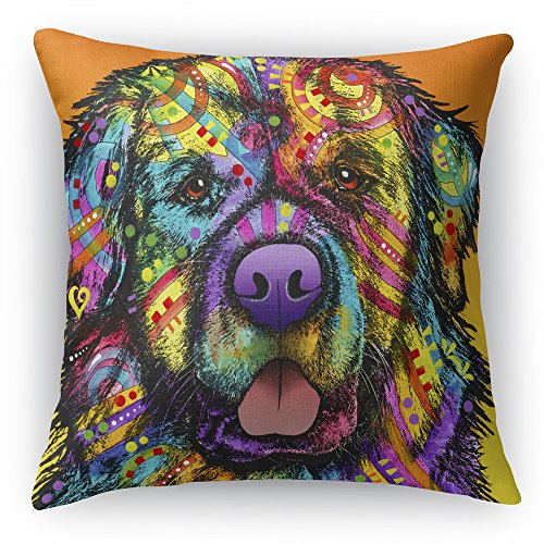 Newfie Printed on a 18×18 inch Square Pillow Double-Sided Dean Russo
