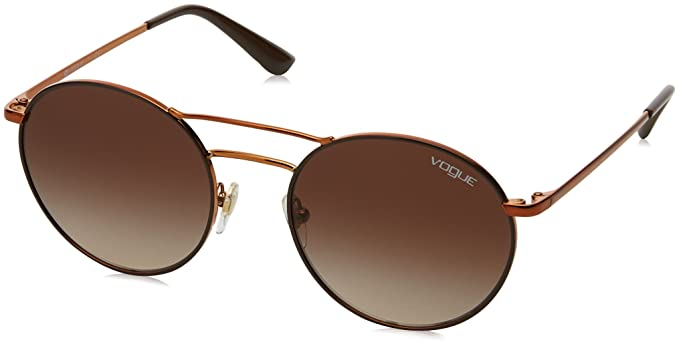 Womens 0VO4061S 50534Z Sunglasses, Copper/Fuxia/Greymirrorrosegold, 52 Vogue