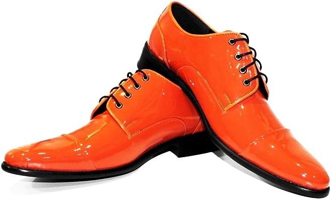 Handmade Italian Mens Color Orange