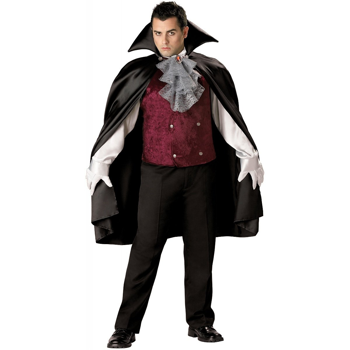 Vampire Costume Vest Adult Halloween Fancy Dress