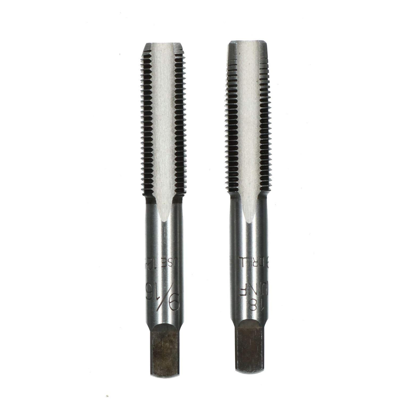 9//16 x 18 UNF Imperial y el tap/ón c/ónico de acero de Tungsteno Set TD082
