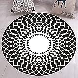 GIY Round Geometric Area Rugs Living Room Carpet Bathroom Mats Children Bedroom Rug Home Decorate Fashion Non-Slip Modern Circular Runners 2' X 2'