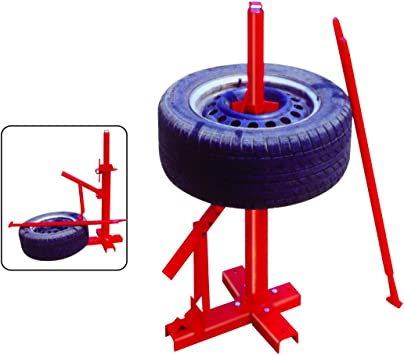 Manual Portable Hand Tire Changer Bead Breaker Tool Mounting Home Shop Auto UK