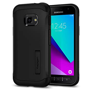 official photos 15c8d 10761 Spigen [Slim Armor] [Black] Compatible with Galaxy Xcover 4, Air Cushion  Technology Phone Cover for Samsung Galaxy Xcover 4 Case