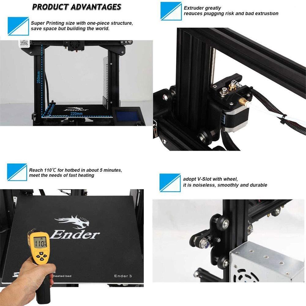 Creality Ender 3 - Impresora 3D (aluminio, tamaño de impresión de ...