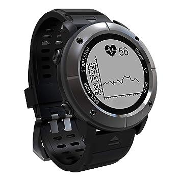 OOLIFENG Reloj Running con GPS, GPS para Ciclismo Velocímetros con Incorporado Pulsómetros, Barómetro, Brújula, etc. para Al Aire Libre Aventurero,Gray: ...