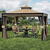 Cheap Living Home 10 x 12 Gazebo Replacement Canopy