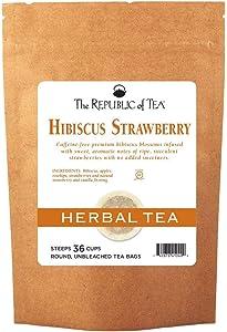 REPUBLIC OF TEA Strawberry Hibiscus Tea, 36 CT