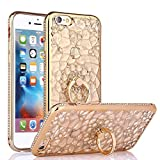iPhone 6S Case, iPhone 6 Case, Cellaria Chrysalis Series - Ultra Slim Luxury Bling Rhinestone Case Cover With 360 Rotating Ring Grip/Stand Holder/Kickstand For iPhone 6S/6 (4.7 Inch), Gold