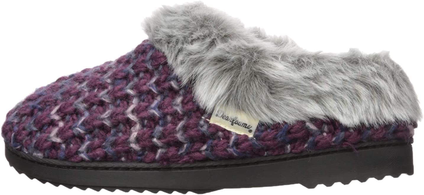 Dearfoams Womens Textured Knit Clog Slipper