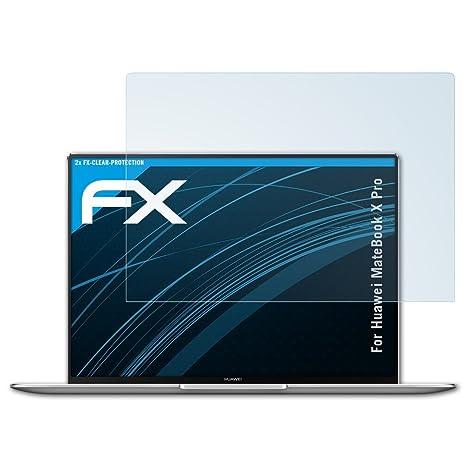 entspiegelnde und sto/ßd/ämpfende FX Folie atFolix Panzerfolie kompatibel mit Huawei MateBook X Pro Schutzfolie 2X