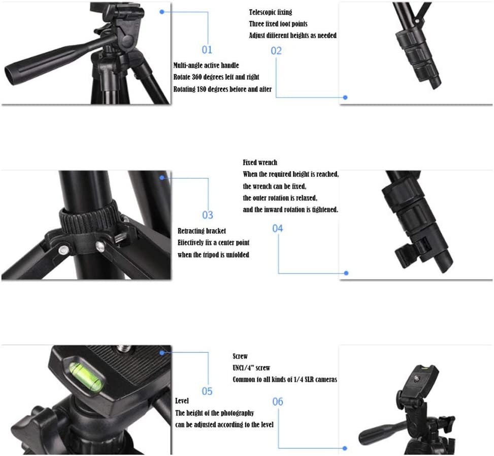 YILF Portable Tripod Lightweight Aluminum Selfie Camera Stand Extension Stand Universal SLR Professional Travel Photography Accessories
