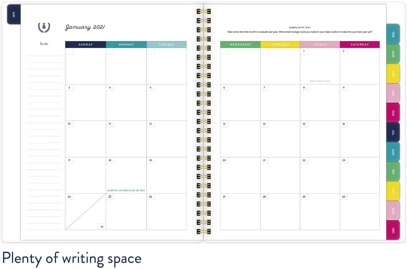 EL53-805 Pineapple 2021 Weekly /& Monthly Planner Simplified by Emily Ley for AT-A-GLANCE 7 x 9 Medium