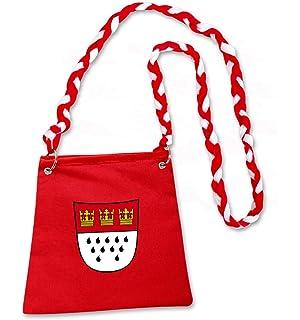 6bb7840e760e0 narrenwelt Tasche Köln rot Beutel Koeln-Tasche mit Wappen Umhängetasche  Kölsch mit Umhängekordel rot