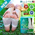 Premium Aromatherapy Body Cleanse Foot Pads - Stress, Pain and Constipation Relief - Natural Deep Sleep Aid - Energy, Metabolism Booster - Odor Eliminator, Relaxing Feet Health Care Patch by Lepa Life