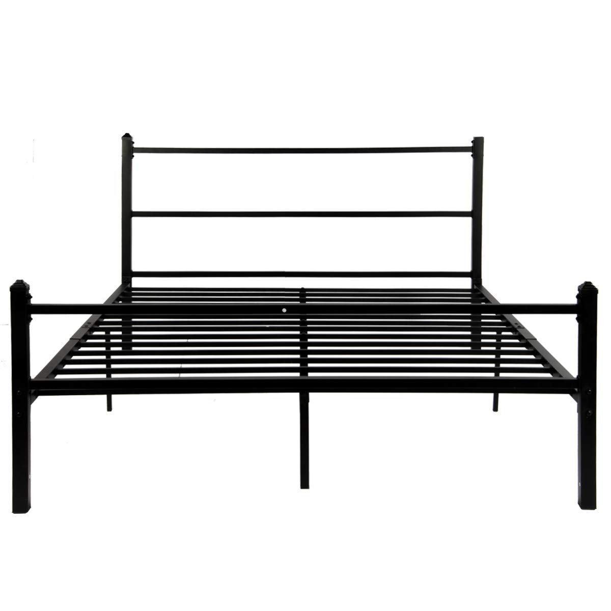 new products 31bb8 03fca GreenForest Bed Frame Queen Size No Squeaky Metal Platform Bed with  Headboard Non Slip Steel Slat Support Heavy Duty Bed Base Mattress  Foundation