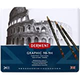 Derwent Graphic Set Tin 24 (All Grades)