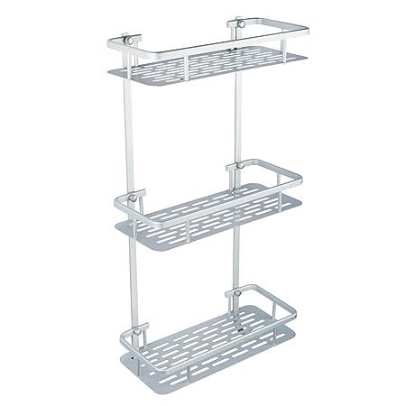 hapilife 3 tier bathroom shelf shower rack organizer caddy holder rh amazon co uk three tier glass bathroom shelf Small Three Tier Shelf