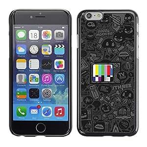 KLONGSHOP // Cubierta de piel con cierre a presión Shell trasero duro de goma Protección Caso - Programas de dibujos animados - Apple Iphone 6 Plus 5.5 //