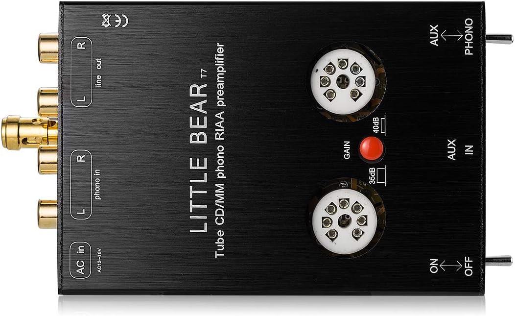 nobsound Little Bear T7 6j1 vacío Tubo Mini Phono Stage Preamp ...