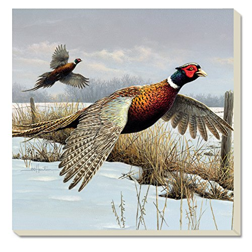 CounterArt Pheasants in Flight Absorbent Coasters, Set of 4