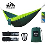 "Double Camping Hammock by Arbor Creek Outfitters | Best Hammock ""ENO BUTTS OF BEARS"" about it 