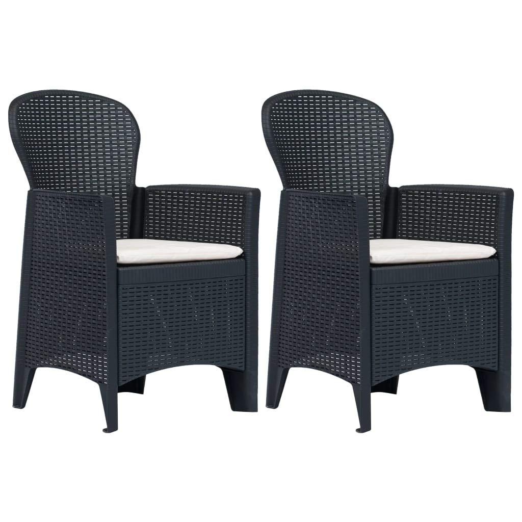 Tidyard 2 pcs Chaise de Jardin Chaise dextérieur Chaises de ...