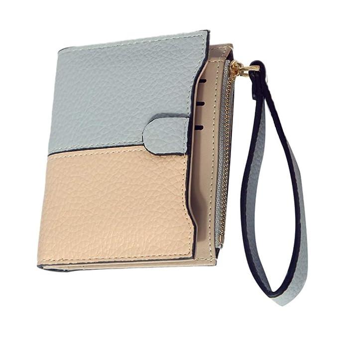 Amazon.com: KIM88 Womens Wallet Fashion Short Litchi Two ...