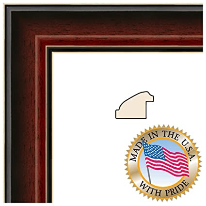 5x10 5 X 10 Picture Frame Cherry Mahogany With Black Slope Veneer