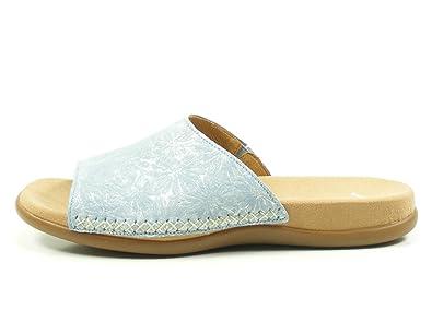 Gabor 83-706 Schuhe Damen Pantoletten Clogs Best Fitting, Schuhgröße:40;Farbe:Blau