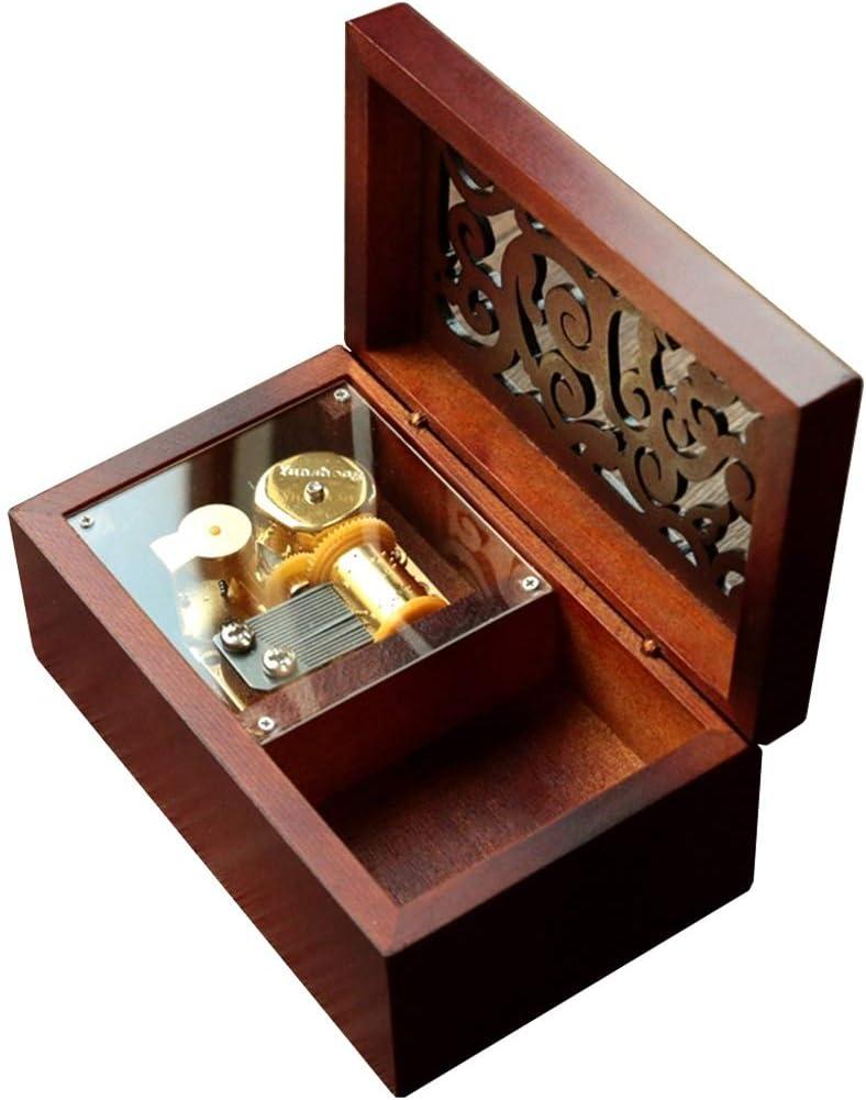 Mini Vintage Music Box Clockwork jouet musical avec Melody du ch/âteau dans le ciel cadeau for les vacances de cadeau danniversaire