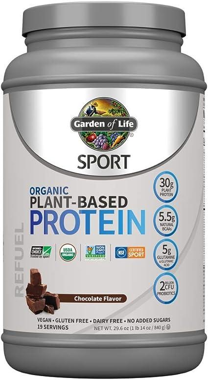 Amazon Com Garden Of Life Sport Organic Plant Based Protein Powder Chocolate 30g Protein Per Serving Premium Vegan Protein Powder For Women Men Plant Bcaa Powder Recovery Blend Probiotics 19 Servings