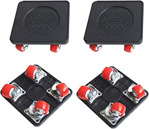 JIECHENG 4 PCS Moving Dolly Heavy Duty with Universal Wheel,for Furniture Appliance Moving Slider,