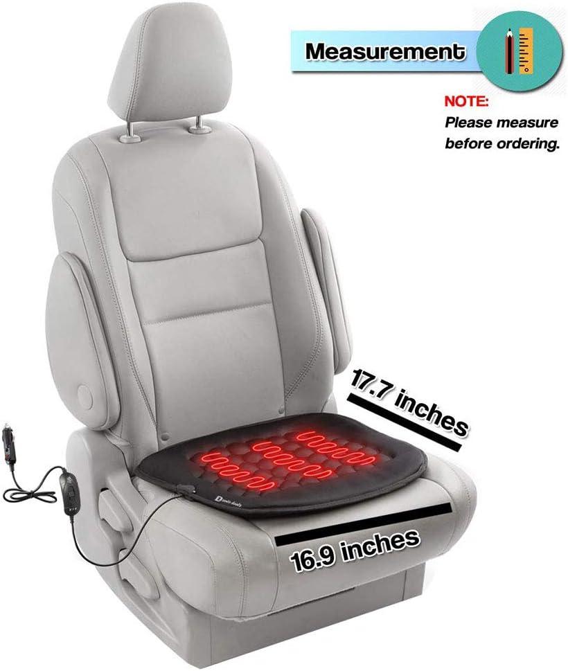 Multifunktionaler Sitzheizung Sitzauflage f/ür Auto//Heim//B/üro Universal Schwarz GARDENYEAR Sitzheizung Auto Auflage Tragbarer 12V Sitzheizung B/ürostuhl mit Intelligenter Temperaturregelung