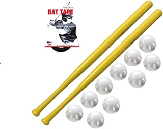 product image for WIFFLE Ball and Bat Combo Set, 10 Balls Baseballs, 2 Bats, 1 Roll Bat Tape, and Pitching Guide