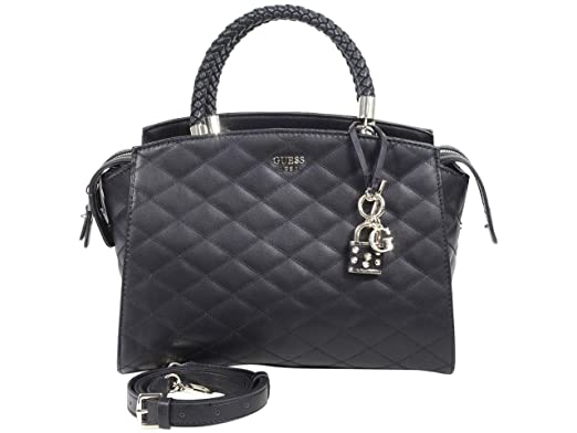 GUESS Penelope Quilted Satchel Tote Bag Handbag