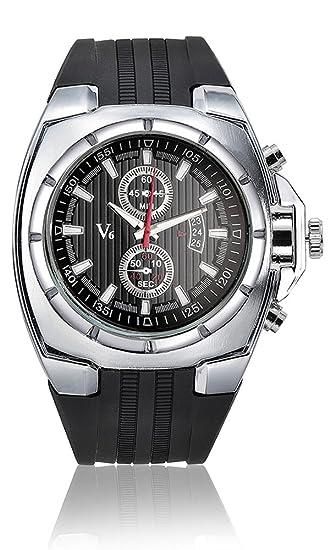 c47a7f615dd Hot Sale Vogue V6 Tiras Reloj Hombres Moda horas Deporte muñeca reloj  Relogio masculino plateado y