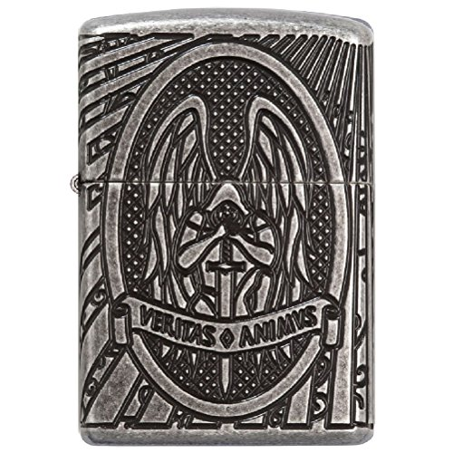 St Michael Zippo Lighter by Goth, Skull and steampunk