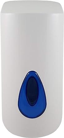 Dispensador de Jabón de Manos 1 Litro. Dosificador jabón Pared Rellenable Blanco.